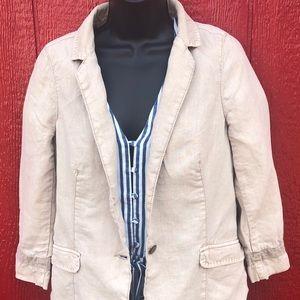 Marrakech Anthropologie Linen blazer size small